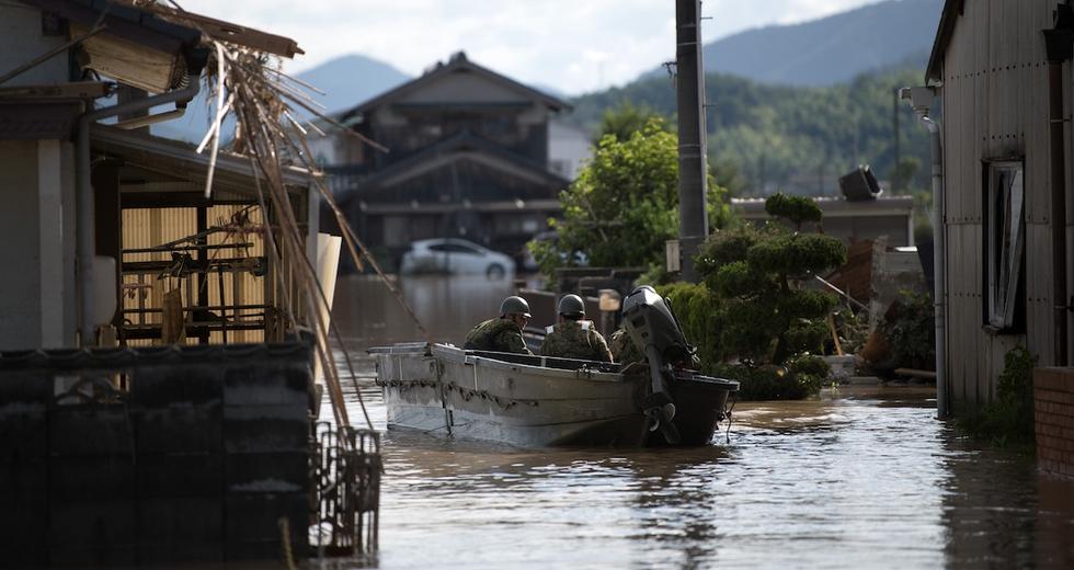 Giappone, piogge torrenziali: 218 morti