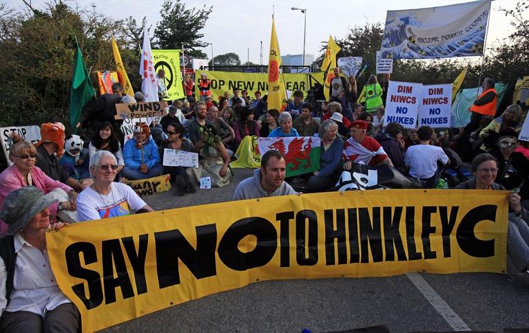 Manifestazione nucleare Regno Unito
