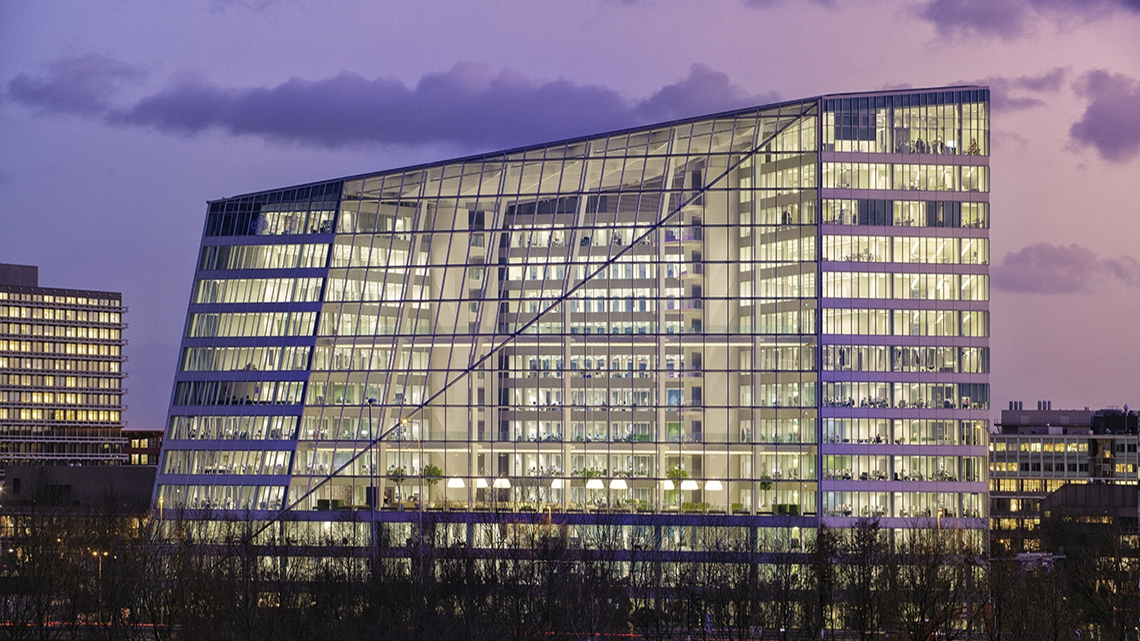 The Edge in Amsterdam. The most sustainable office building in the world